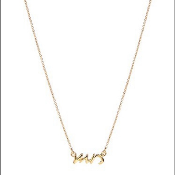 Kate Spade Goldplated 'Mrs' Necklace
